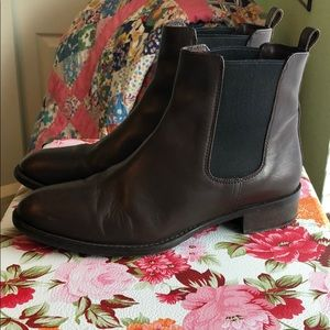 J. Crew Leather Chelsea Boots